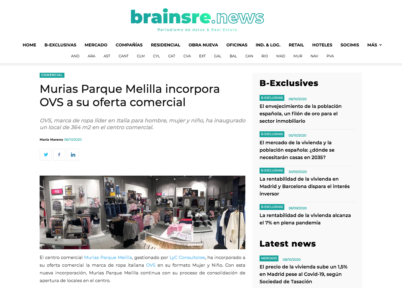 Murias Parque Melilla incorpora OVS a su oferta comercial