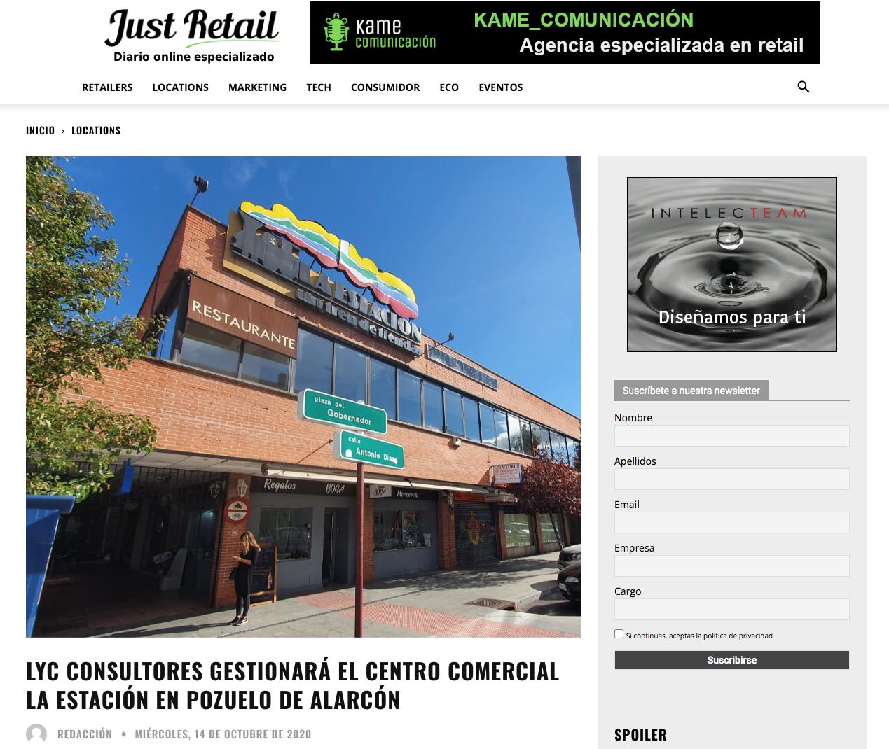 Lyc Consultores gestionara el centro comercial La Estación en Pozuelo De Alarcón